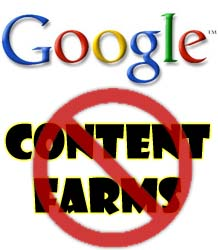 Google versus the content farms image