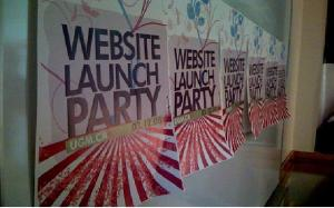 Website launch party image